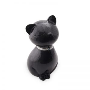 onyx sleeping cat glass ceramic pet urn
