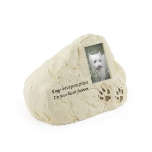 dogs leave paw prints on your heart forever serenity heart composite dog photo pet urn