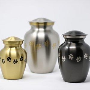 Metal Paw Print Urns