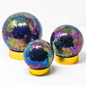 Glass Blown Urns Rainbow 3 sizes